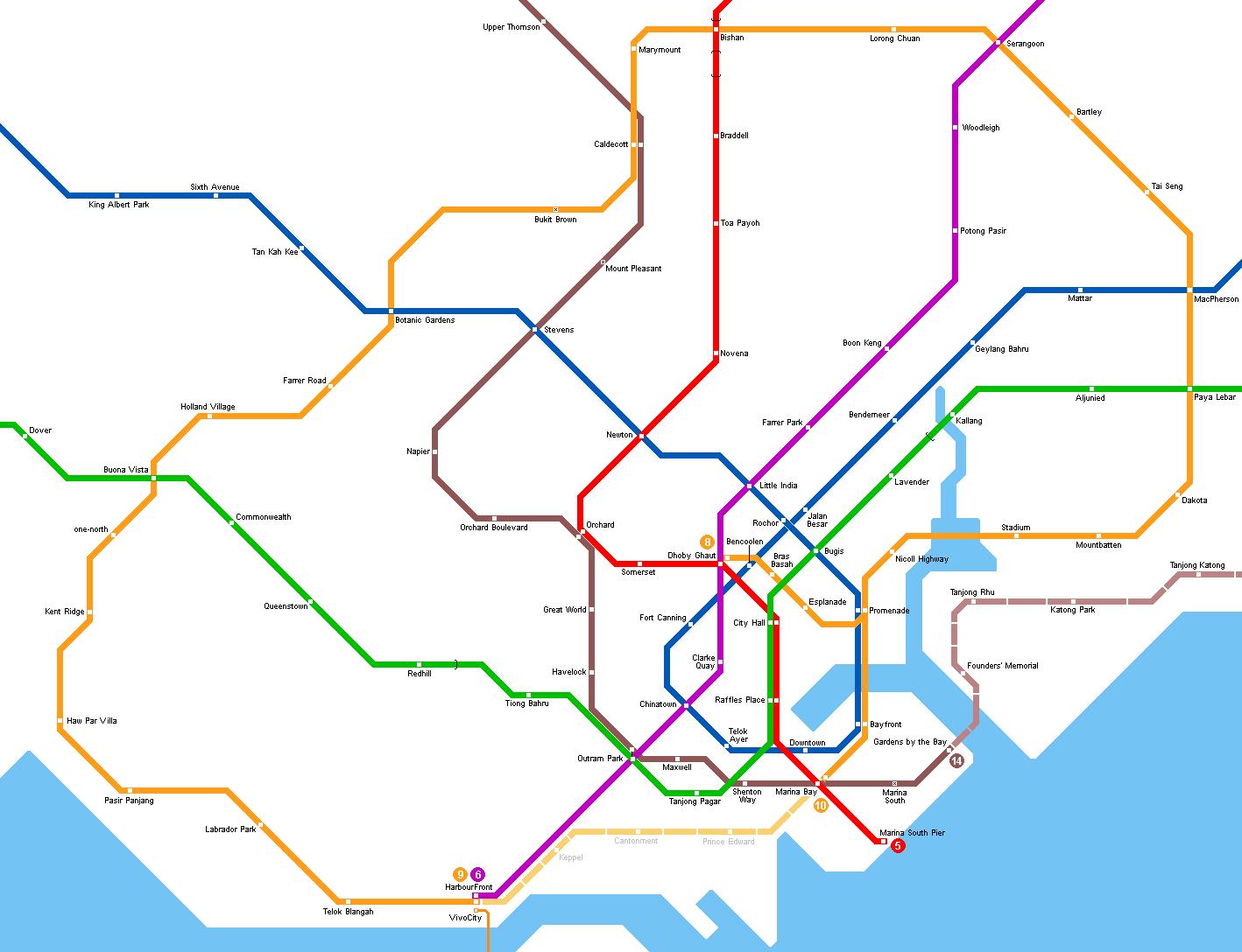 Map Of Asia North South East West.Urbanrail Net Asia Singapore Singapore Mrt Metro